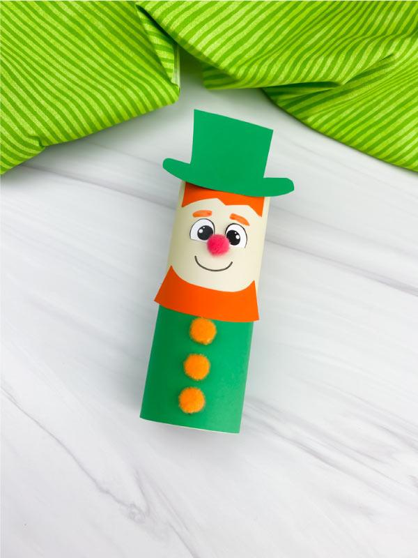 toilet paper roll leprechaun craft