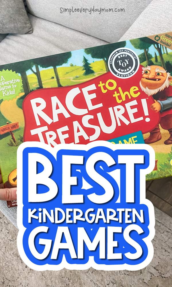 kids board game with the words best kindergarten board games overlayed