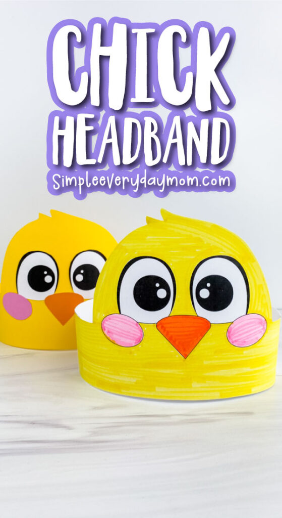 chick headband craft image collage with the words chick headband at the top