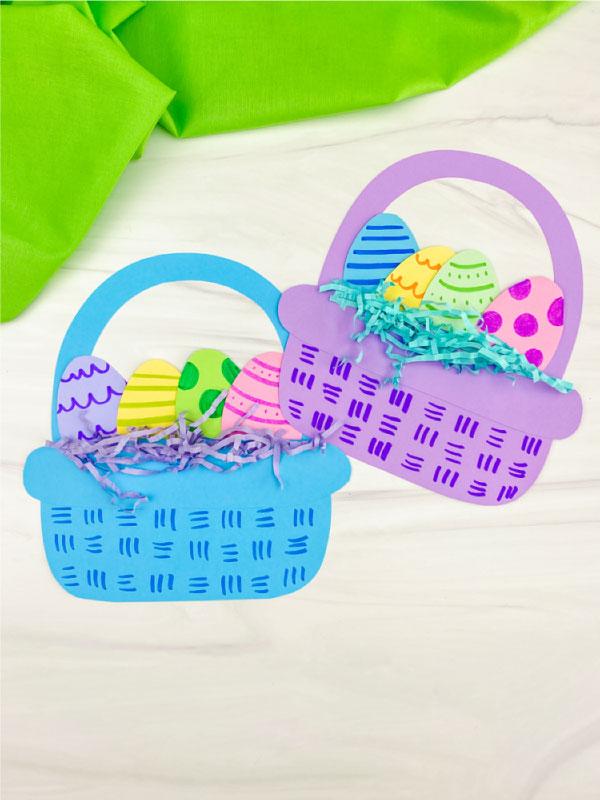 Two paper Easter basket crafts