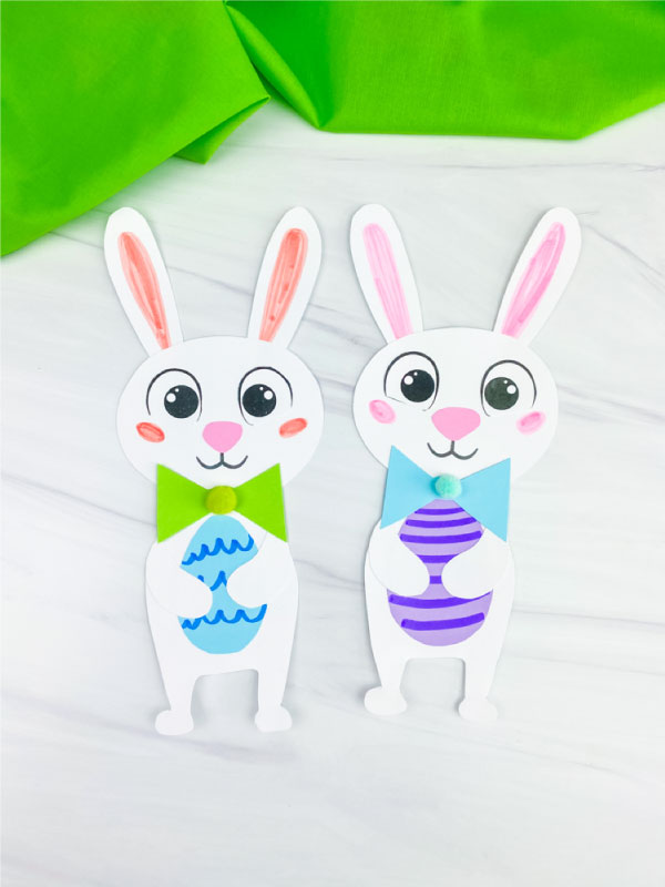 two Easter bunny crafts