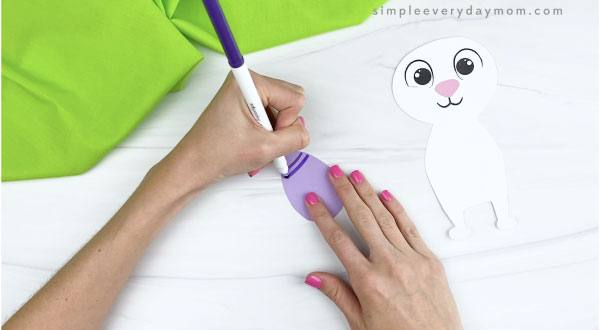 hand drawing decoration on paper Easter egg