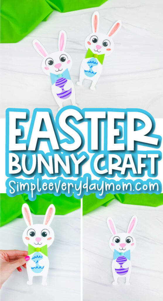 Easter bunny craft image collage with the words Easter bunny craft in the middle
