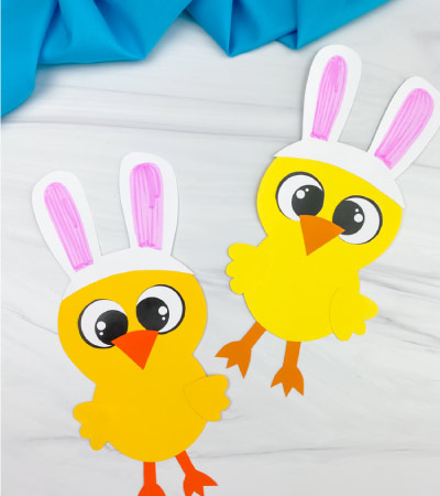 Two Easter chick crafts