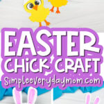 easter chick craft image collage with the words easter chick craft in the middle