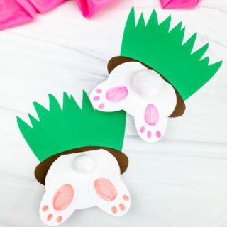 Two Easter bunny card crafts