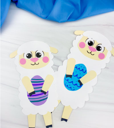 two Easter sheep crafts