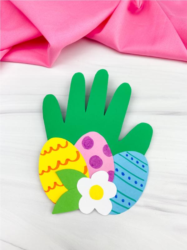 handprint Easter card craft