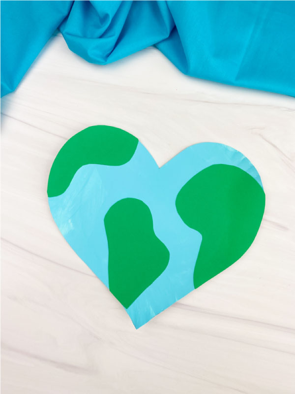 heart shaped paper plate Earth craft