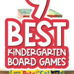 kids board game with the words 9 best kindergarten board games overlayed