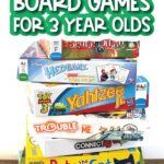 kids board game with the words fun + quick board games for the 3 year olds on it