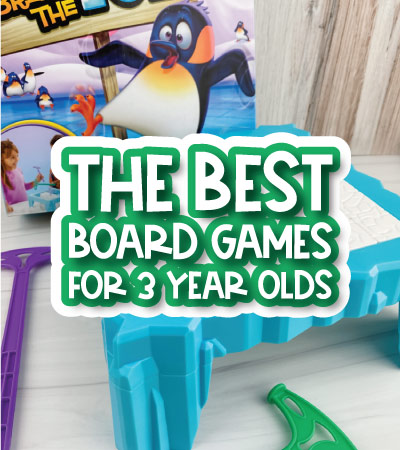 kids board game with the words the best board games for the 3 year olds on it