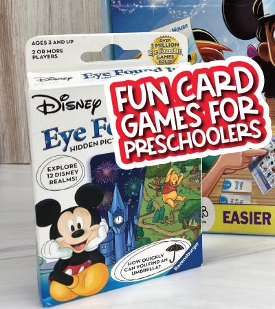 card game for kids with the words fun card games for preschoolers