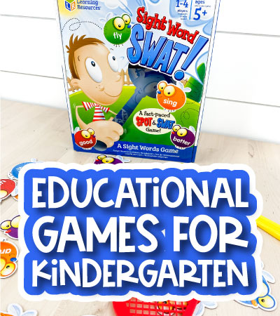 educational board games with the words educational games for kindergarten on it