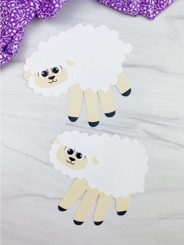 two handprint sheep crafts