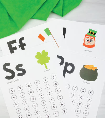st patricks day do a dot letter printables
