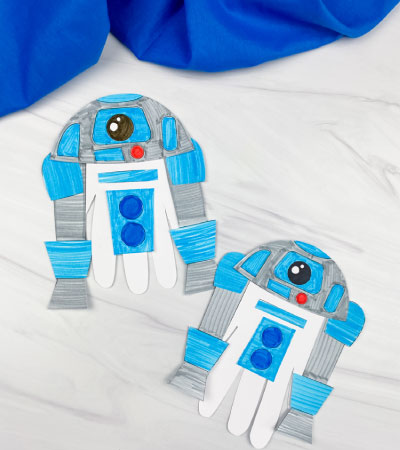 2 handprint r2d2 crafts