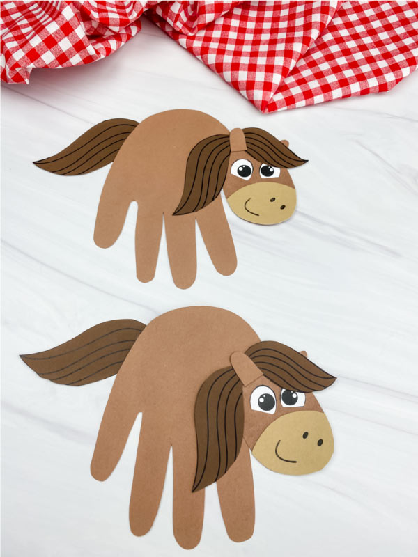 two handprint horse crafts
