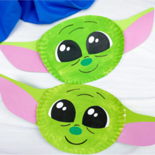 2 paper plate baby yoda crafts