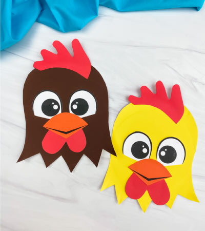 2 paper plate rooster crafts