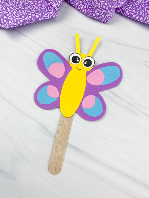butterfly stick puppet