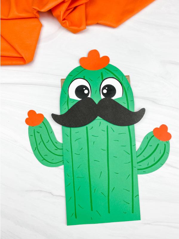 paper bag cactus craft