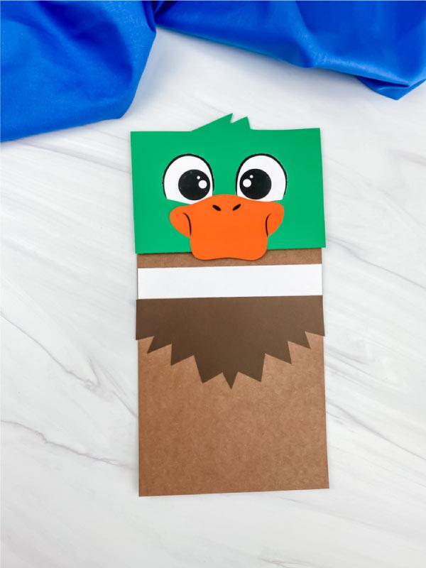duck paper bag craft