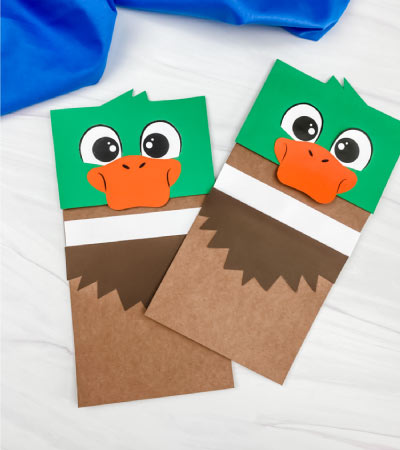 two duck paper bag crafts