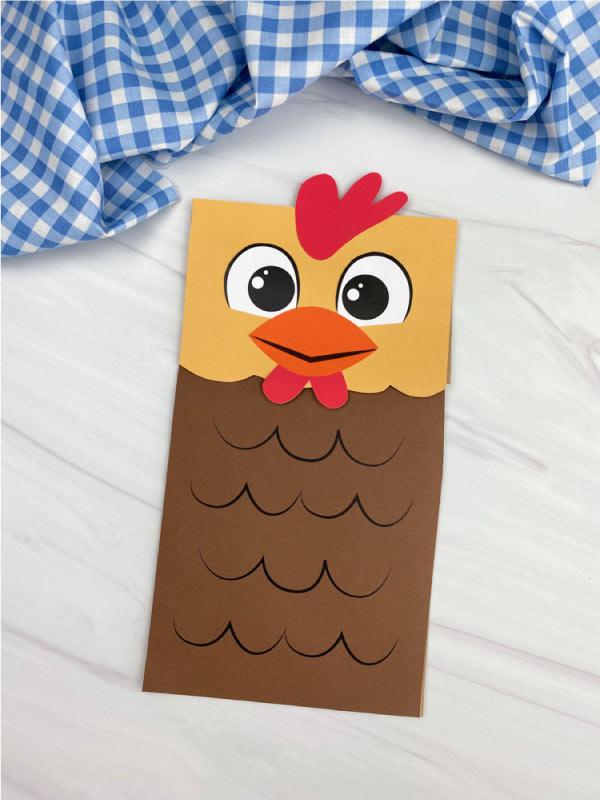 paper bag chicken craft