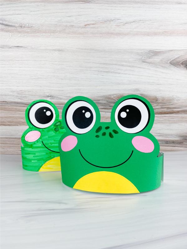 2 frog headband crafts