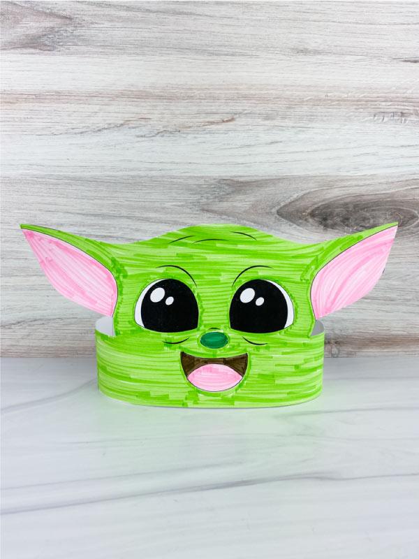 Baby Yoda headband craft