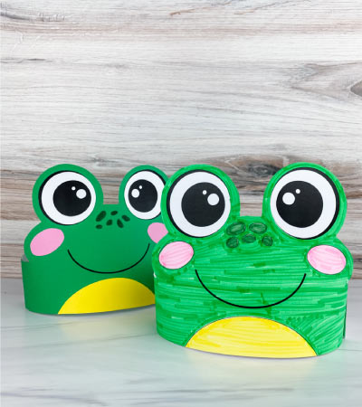 2 frog headband crafts