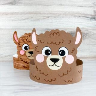 2 llama headband crafts