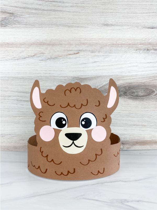 llama headband craft