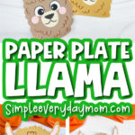 paper plate llama craft image collage with the words paper plate llama in the middle
