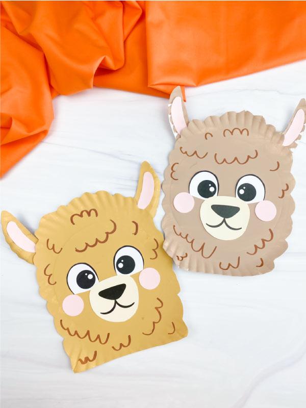 2 paper plate llama crafts