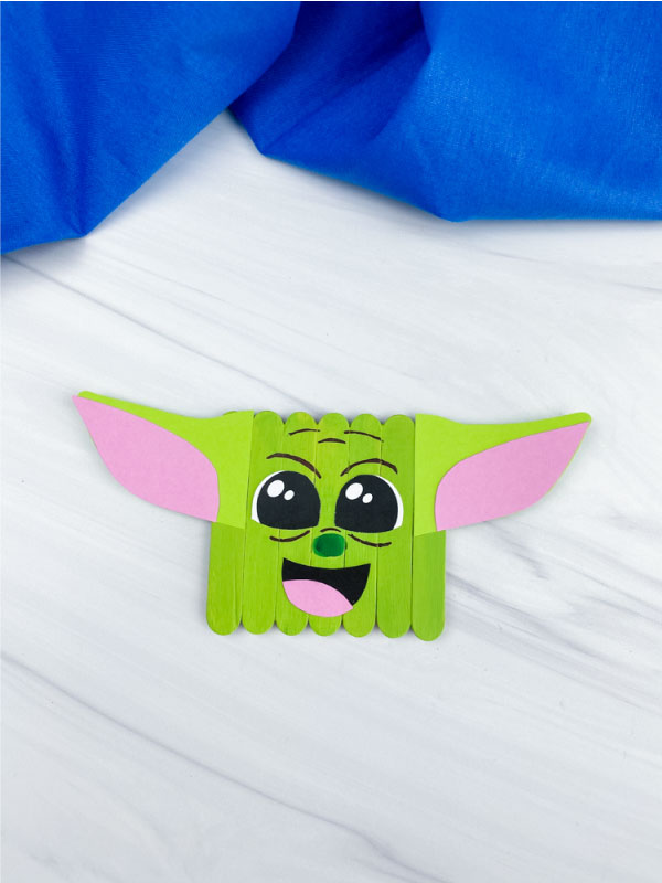 popsicle stick baby yoda craft
