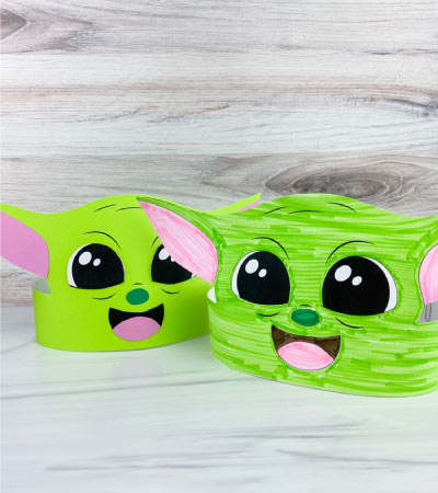 2 Baby Yoda headband crafts
