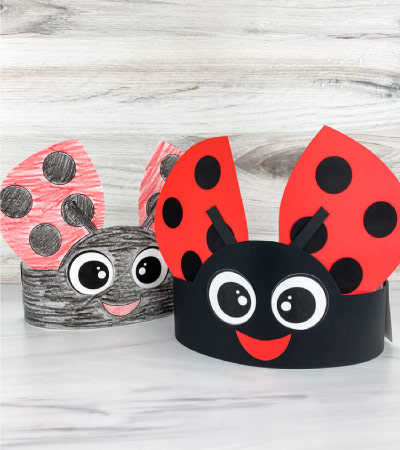 two ladybug headband crafts