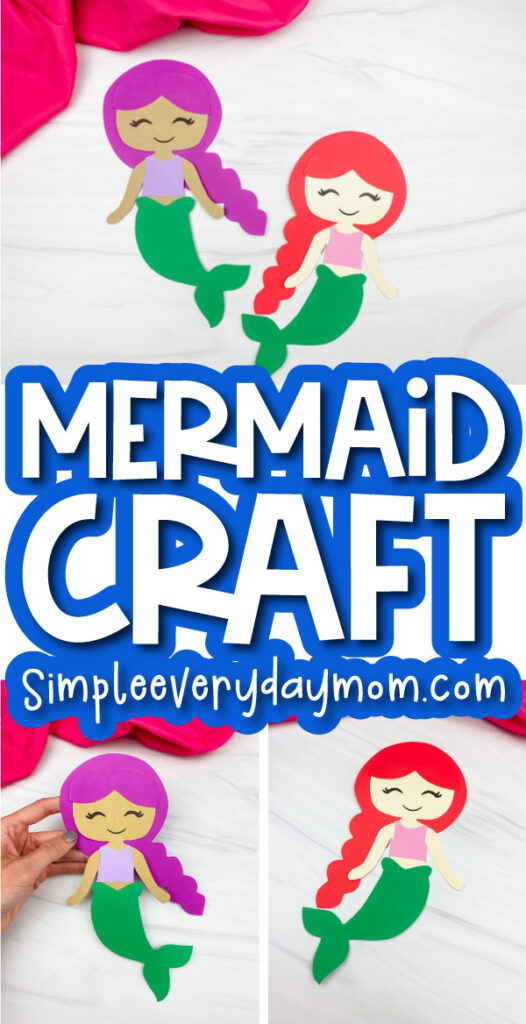 mermaid paper craft image collage with the words mermaid craft in the middle