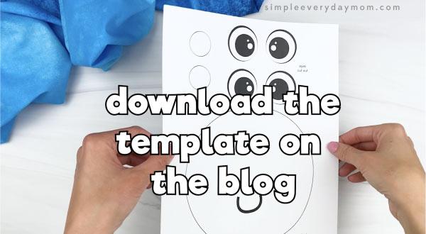 hand holding handprint octopus craft template