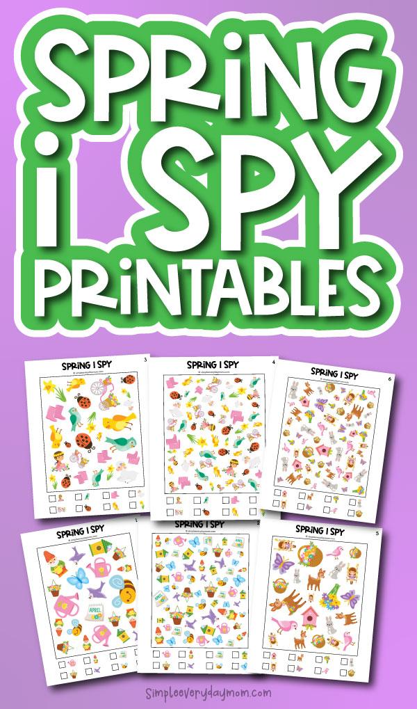 spring i spy printables