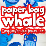 paper bag whale image collage with the words paper bag whale in the middle