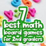 magnetic number background with the words math board games for 8 year olds in the middle