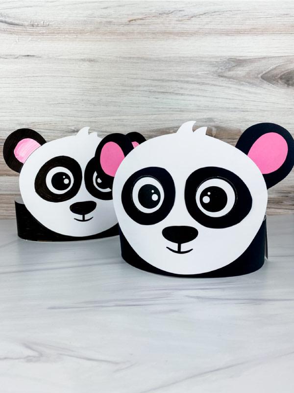 2 panda headband crafts