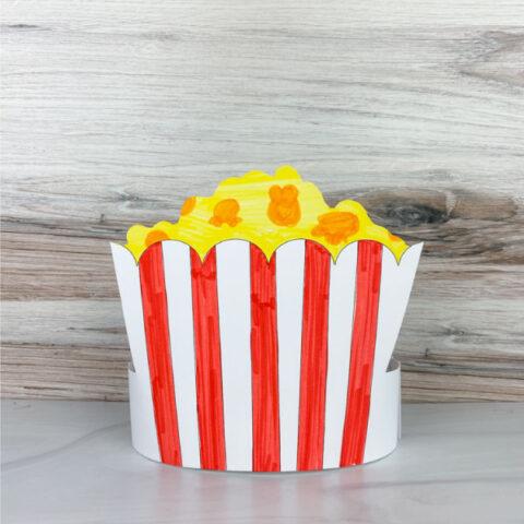 color in popcorn headband craft