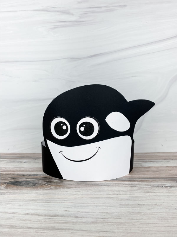 killer whale headband craft