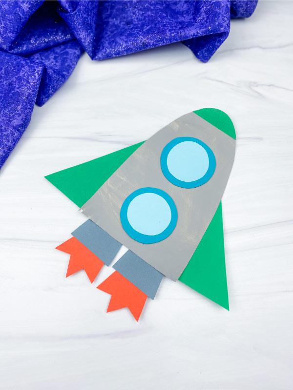 paper plate rocket craft
