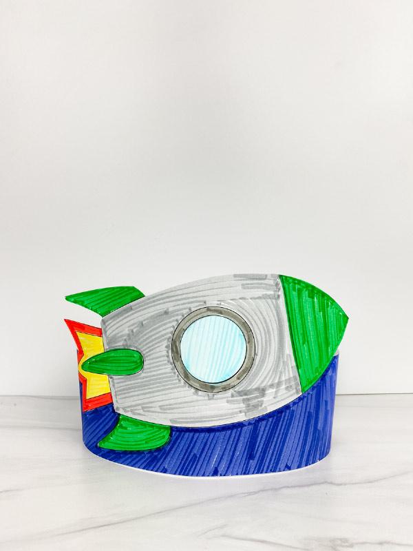 printable rocket headband craft