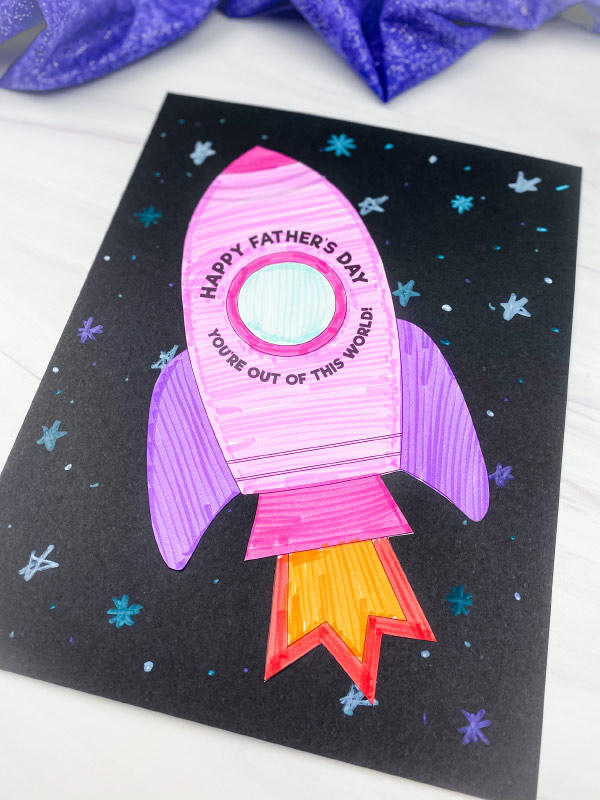 rocket father's day card